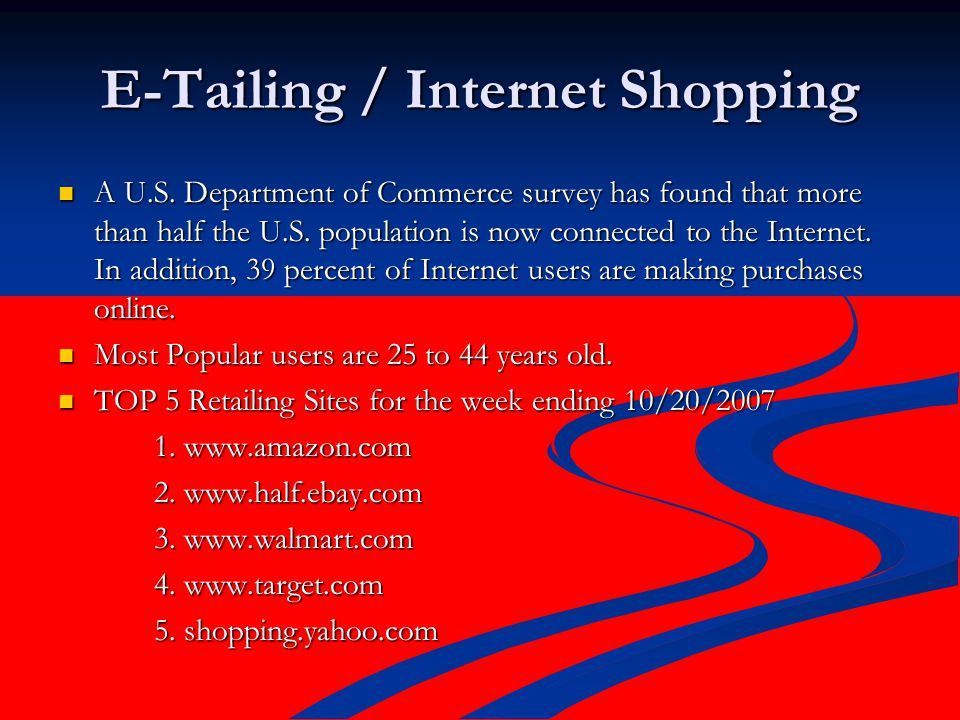 walmart amazon and ebay who will dominate internet retailing Start studying fashion retail industry exam 1 learn vocabulary example of internet off-price retailers: amazoncom, ebaycom.