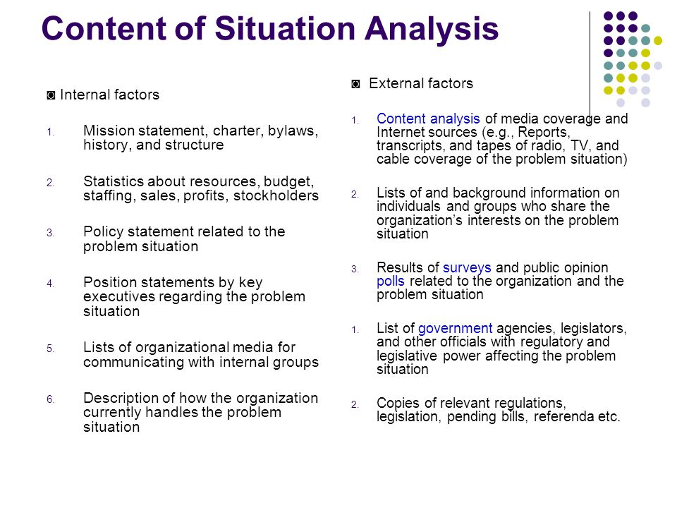 situation analysis and problem statement interclean Financial statement analysis hca/270 axia  of phoenix job analysis the merger between interclean and envirotech  situation turned into a problem.