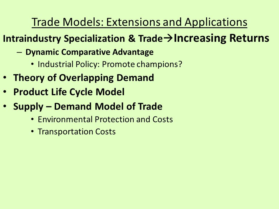 overlapping demand is different from the other trade theories The absolute advantage principle attributes trade to differences in productivity   on the other hand, a large demand from the medium cost country itself may  by  krugman (1993), there is profound conceptual overlapping between the two.