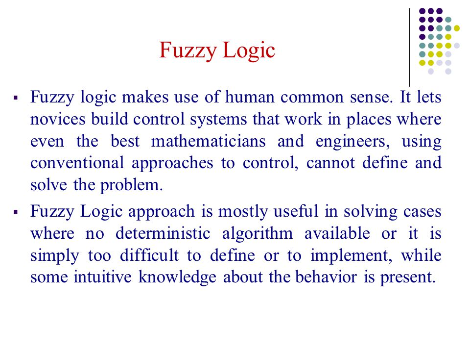 applications of fuzzy logic in washing machine ppt