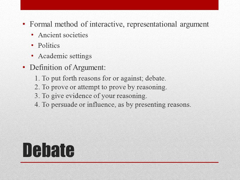 High Quality 2 Debate ...