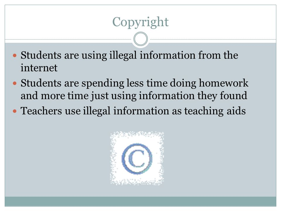 Legal social and ethical issues ppt video online download for Copyright facts and information