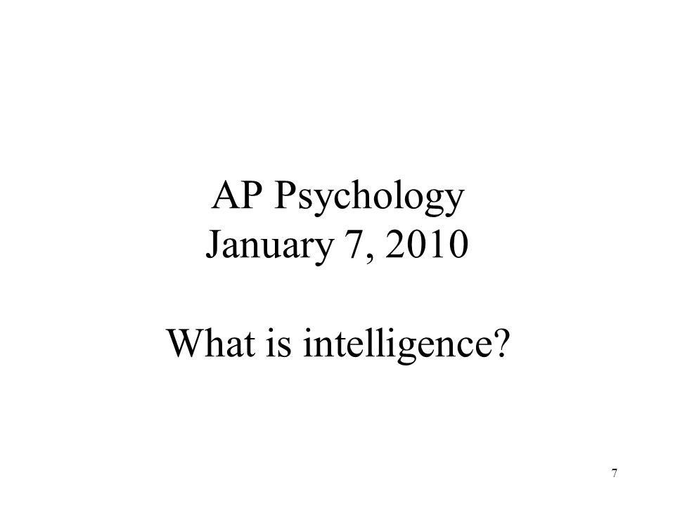 ap psychology multiple intelligences Test and improve your knowledge of ap psychology: intelligence testing lesson plans with fun multiple choice exams you can take online with studycom.