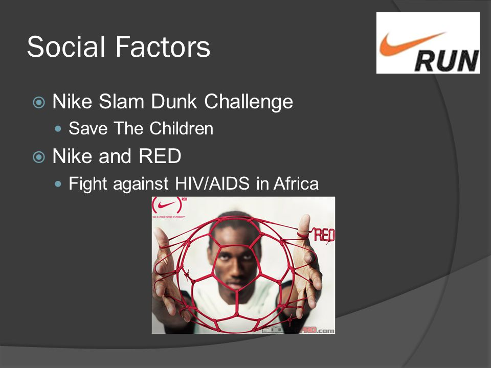 nike social factor The promise and perils of globalization: the case of nike richard m locke mit working paper ipc-02-007 july 2002 through a case study of nike, inc – a company that has come to symbolize both the benefits and the risks.