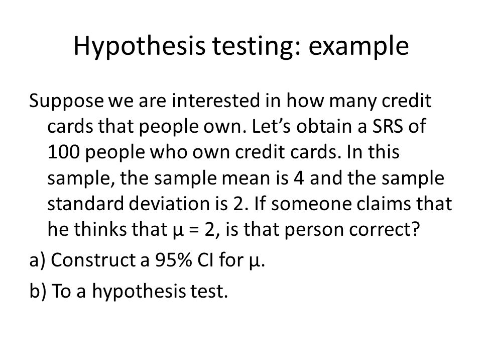 Chapter 8: Testing Statistical Hypothesis - ppt video online download