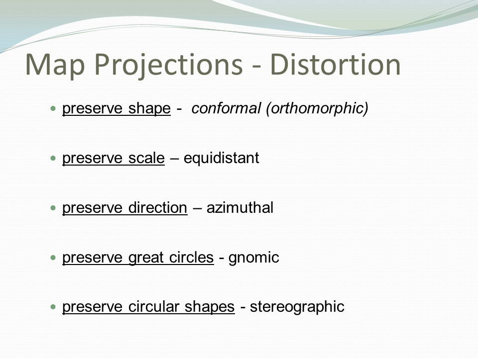 Map Projections - Distortion