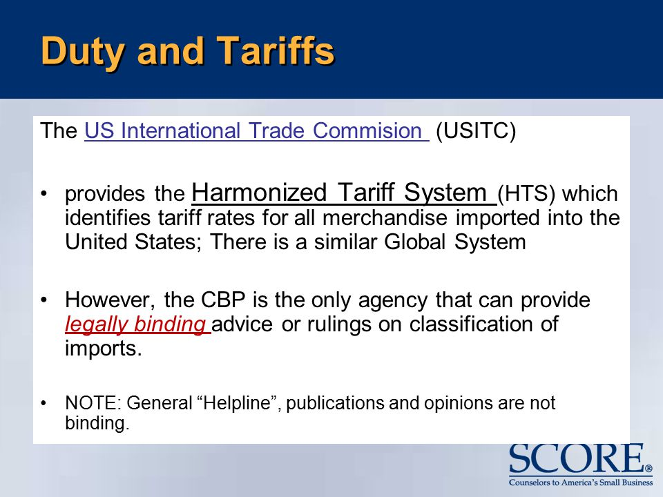 Tariff Affairs