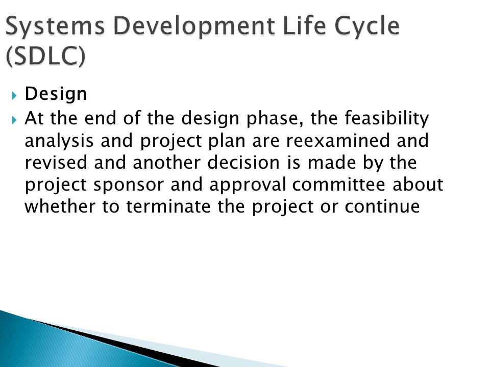Systems Development Life Cycle (SDLC)