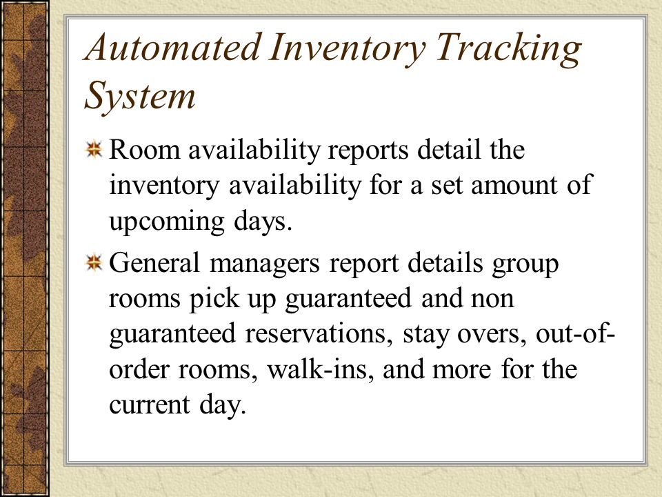 automated inventory system Automated inventory is a system of keeping track of inventory on a perpetual basis this type of inventory control ensures items are accounted for and that inflow and outflow status is updated on a continual basis.
