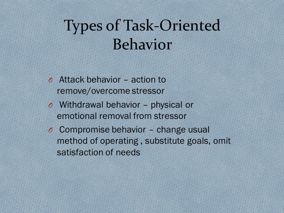 rb task orientated behavior We introduce a behavioral task that gauges the  action tendency r b adams  jr ( )  tive or approach-oriented behavior in response to reward, whereas the.