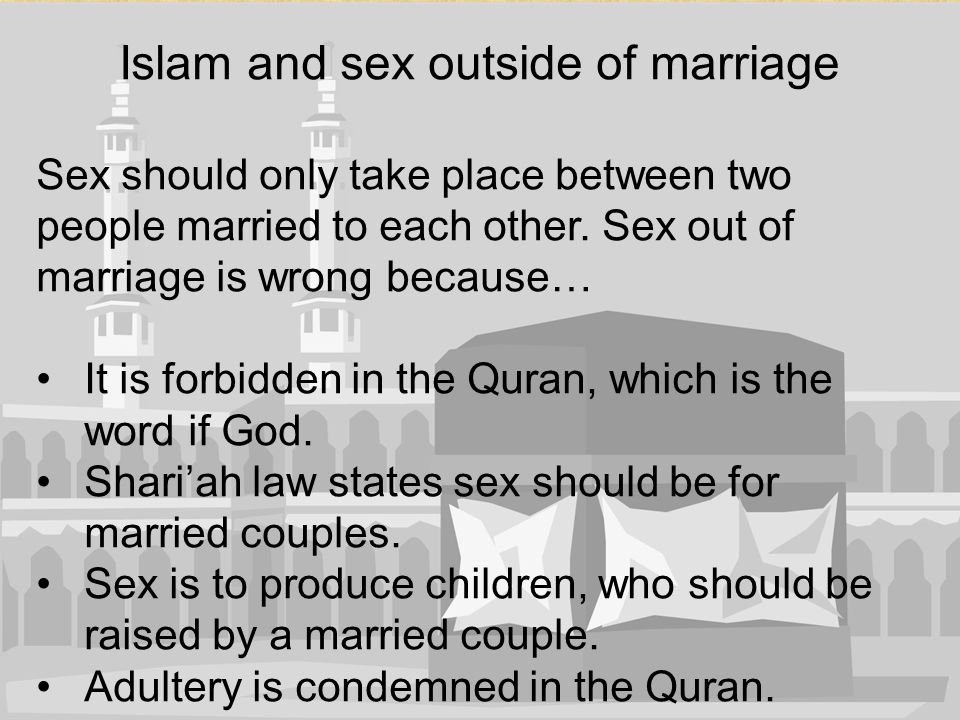 Islam and sex outside of marriage