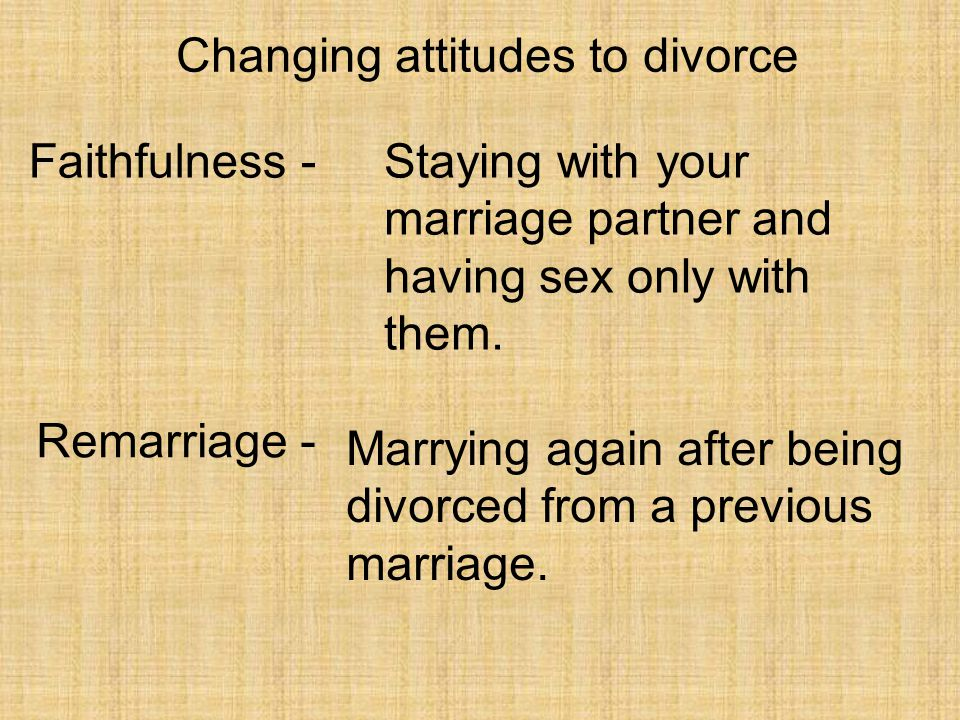 Changing attitudes to divorce