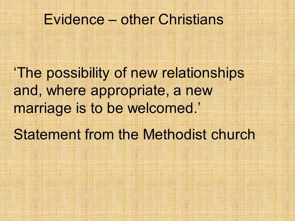 Evidence – other Christians