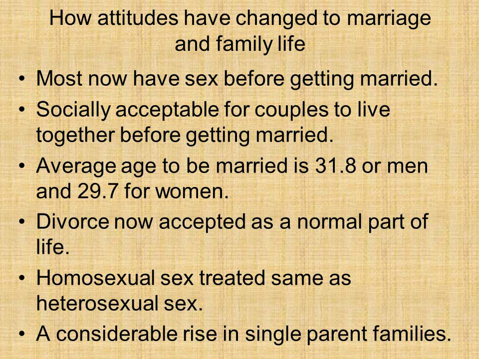 How attitudes have changed to marriage and family life