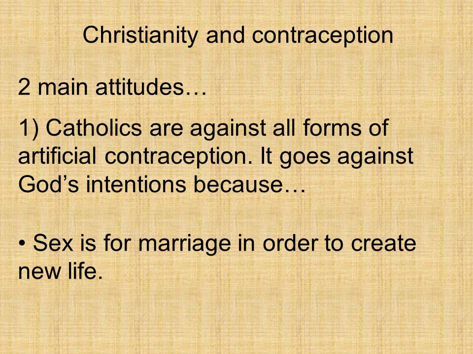 Christianity and contraception