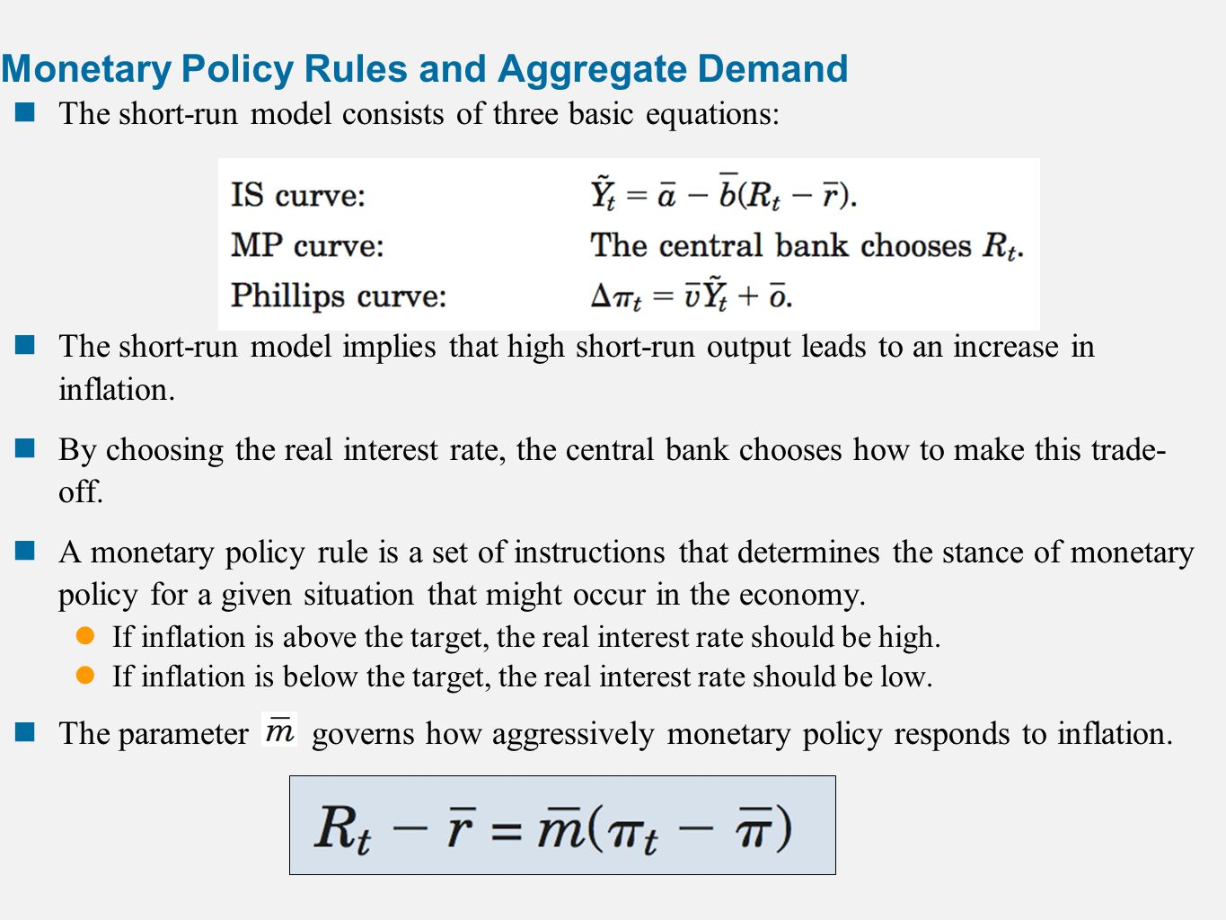 monetary policy and aggregate demand curve What happens when aggregate demand shifts because of a change in the  velocity of money  10 monetary policy and the federal reserve monetary  policy.