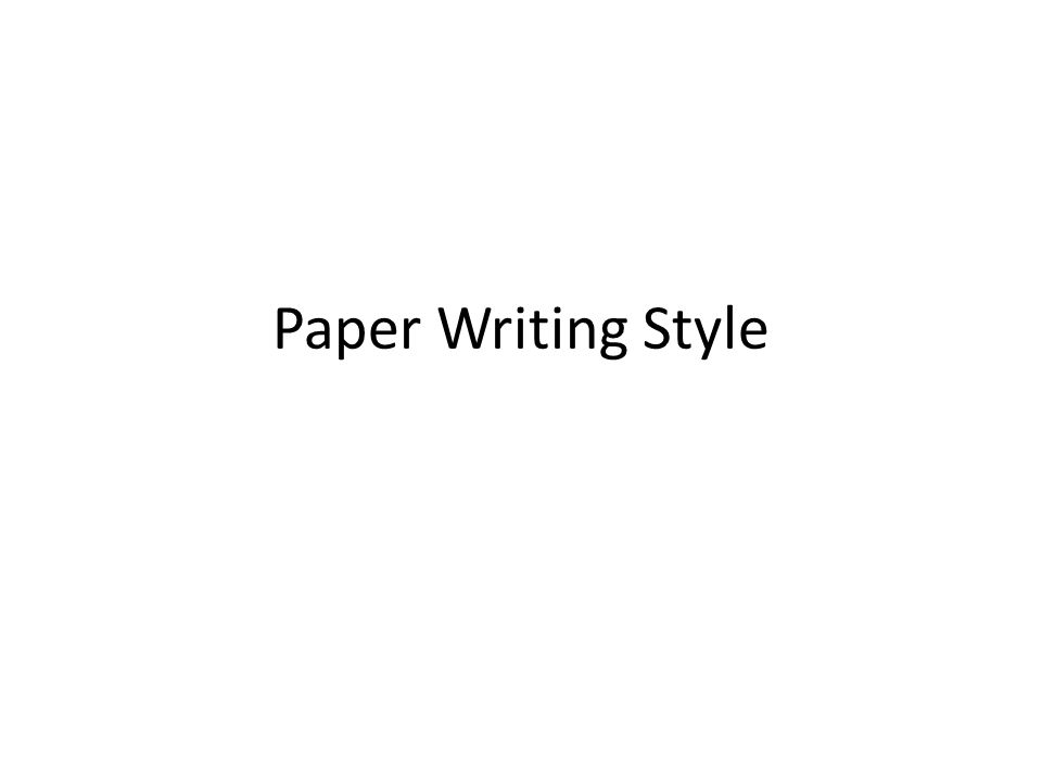 college paper writing styles