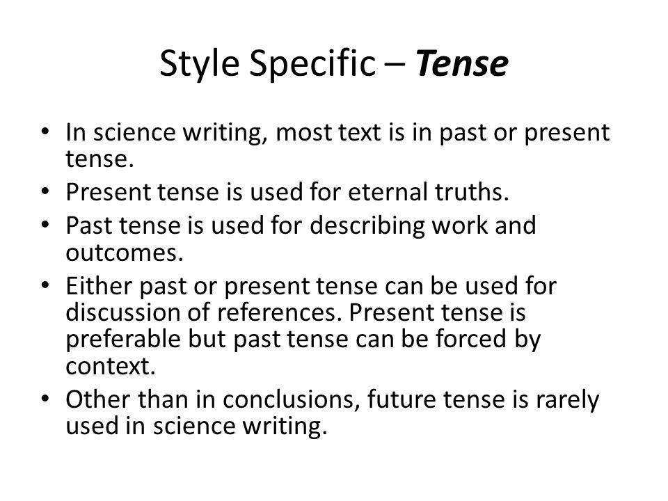 Argumentative essay past or present tense