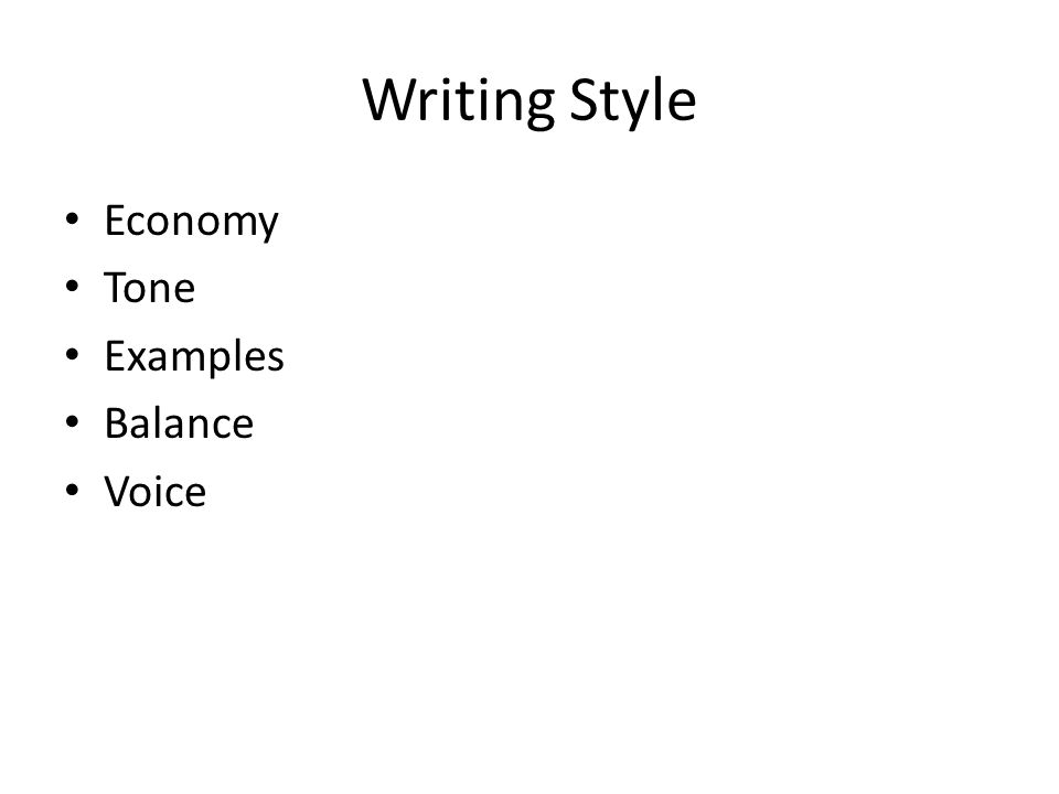 Paper writing styles
