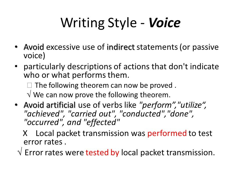 essays with passive voice In a sentence written in the active voice, the subject of sentence performs the action in a sentence written in the passive voice the subject receives the action passive: it is believed by.