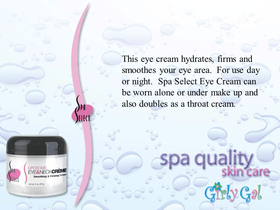 This eye cream hydrates, firms and smoothes your eye area