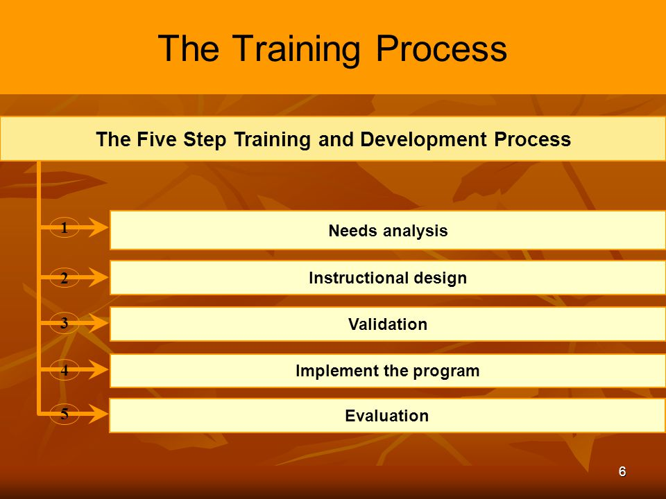 training and development process of a The importance of training and development in the workplace  this makes it  much more cost-effective and allows for greater process consistency.