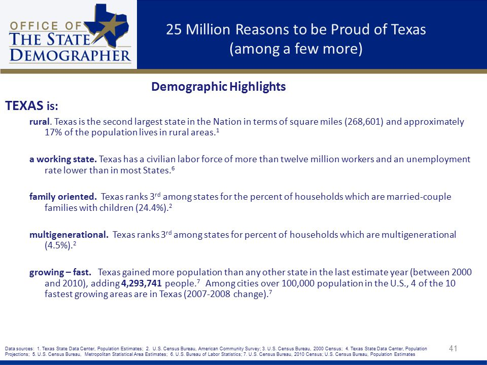 25 Million Reasons to be Proud of Texas (among a few more)