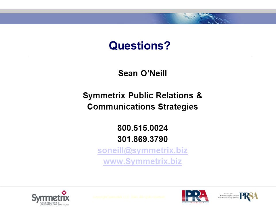 Symmetrix Public Relations & Communications Strategies
