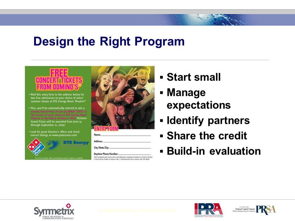 Design the Right Program