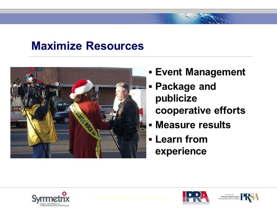 Maximize Resources Event Management