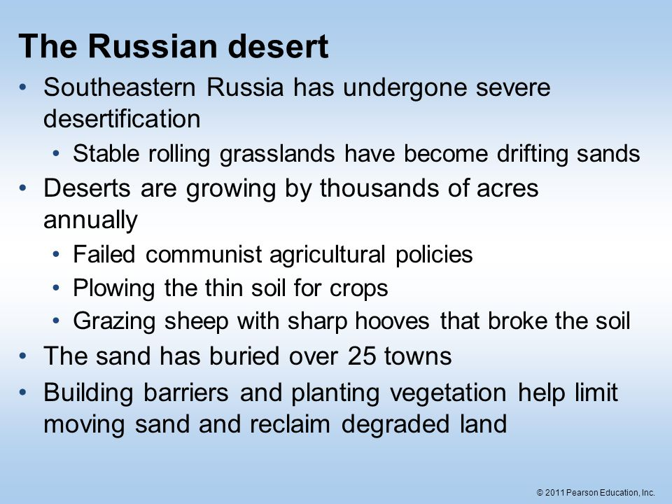The Russian Desert Southeastern Russia Has Undergone Severe Desertification Stable Rolling Grasslands Have Become Drifting