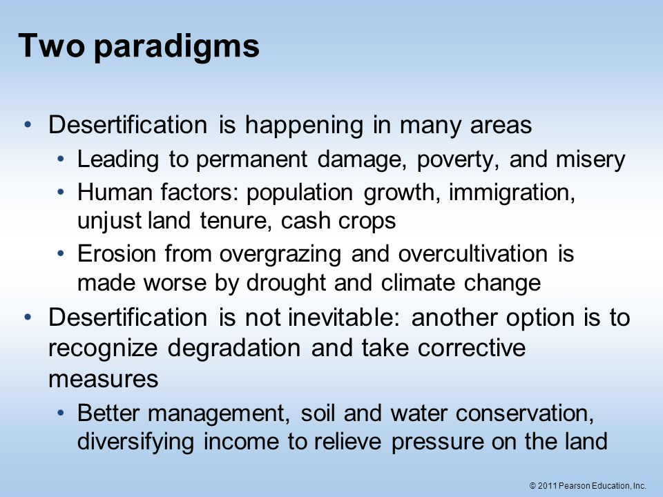 Two Paradigms Desertification Is Happening In Many Areas