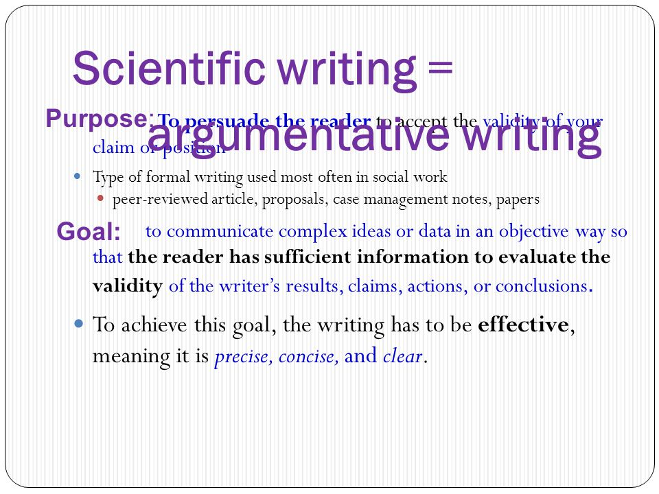 Scientific paper writing program