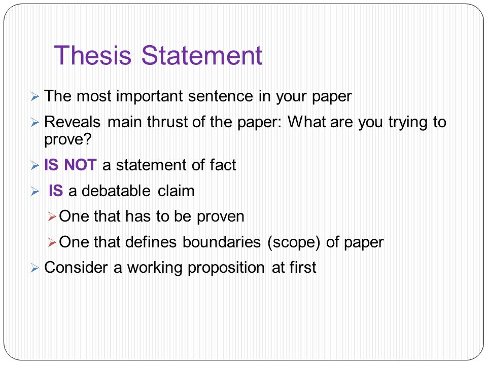 thesis statemnt Many papers you write require developing a thesis statement in this section you'll learn what a thesis statement is and how to write one keep in mind that not all papers require thesis statements if in doubt, please consult your instructor for assistance.