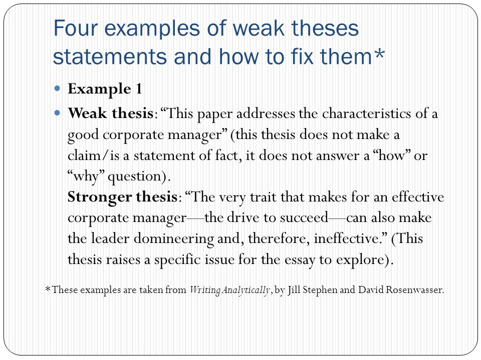 Writing effective thesis statements hacker