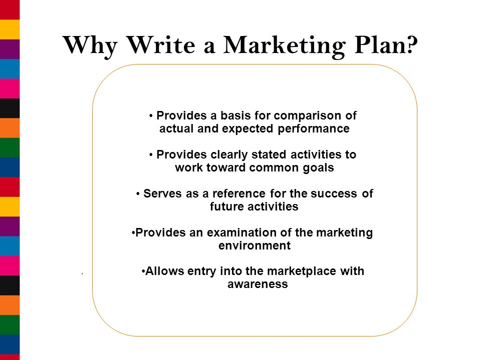 Write a marketing plan