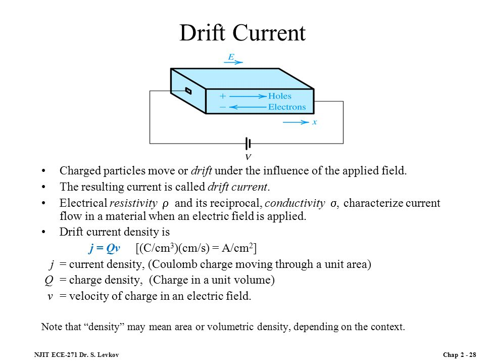 how to find resistivity with density and electric field