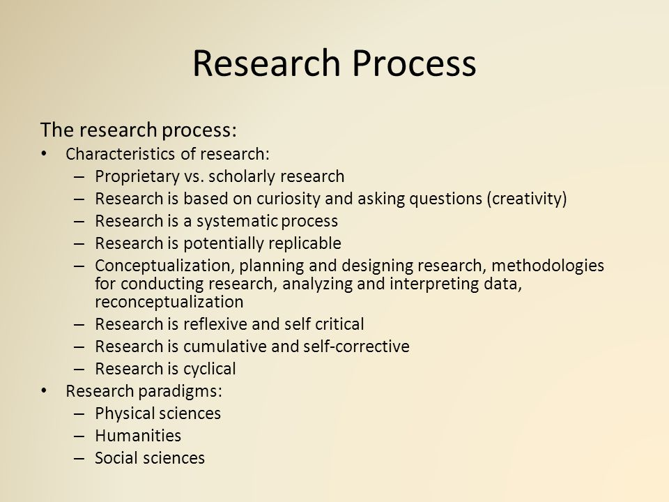 research process and characteristics Criteria qualities of good scientific great value in carrying out research induction is the process of reasoning qualities of good scientific research.