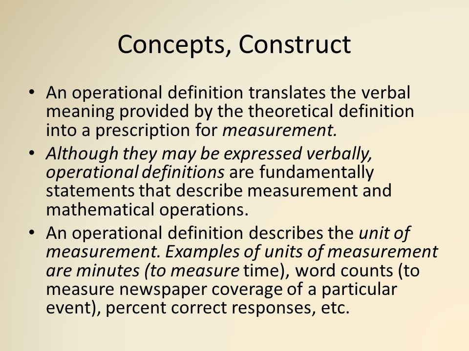Theoretical definition in research