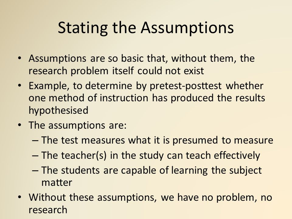 What are assumptions? definition and meaning ...