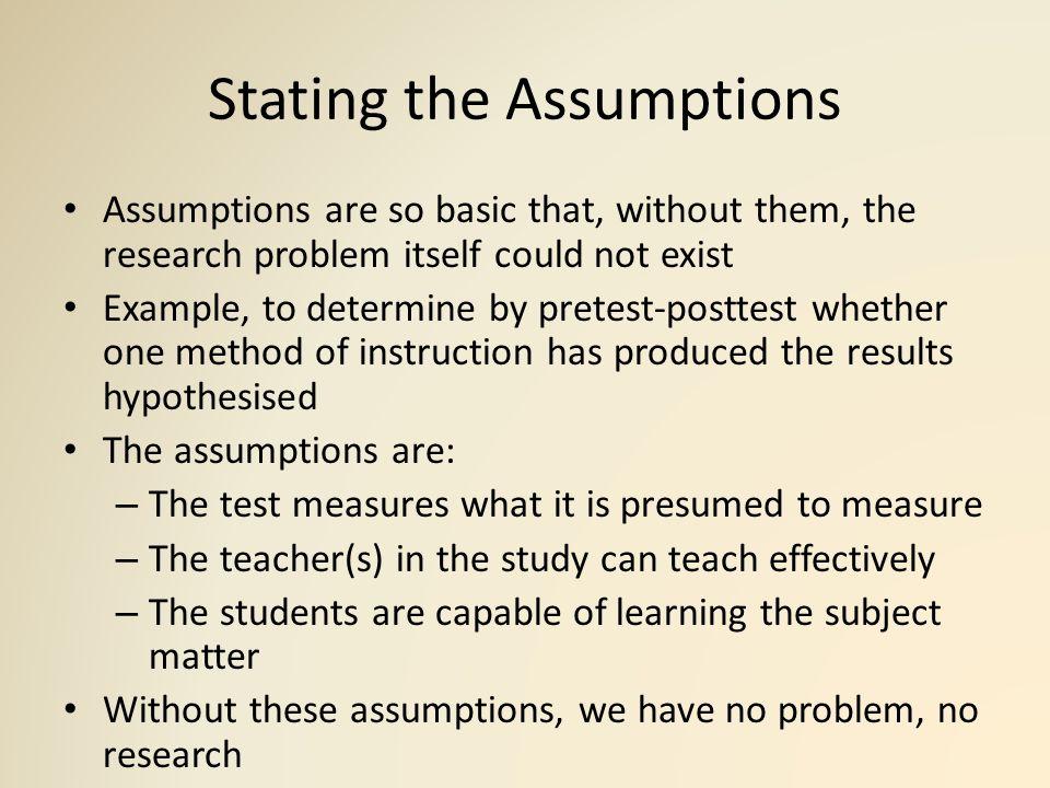 Assumptions underlying quantitative and qualitative ...