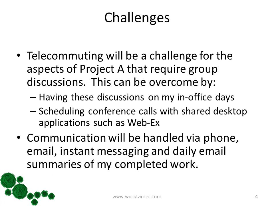 telecommuting proposal