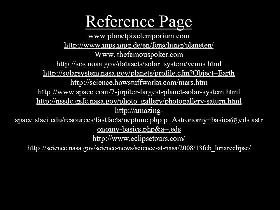 Reference Page www. planetpixelemporium. com   mps. mpg