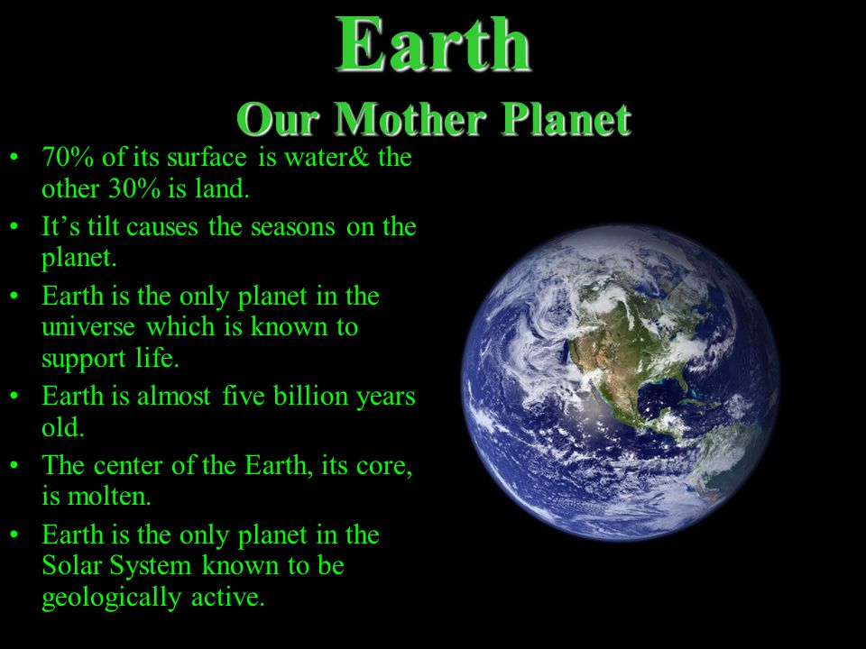 Earth Our Mother Planet