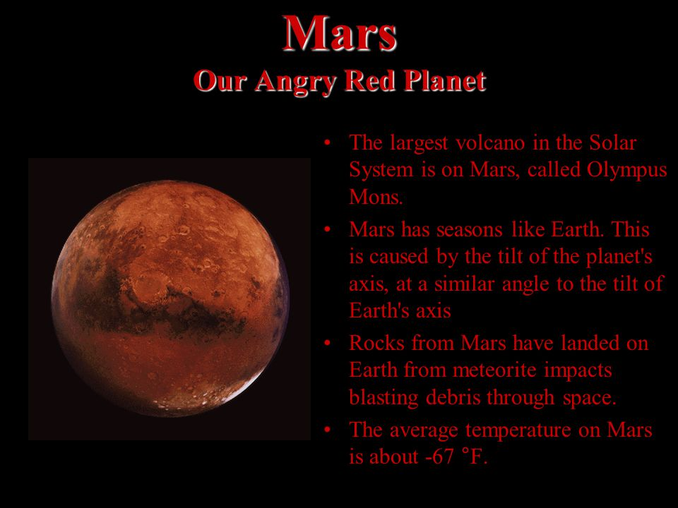 Mars Our Angry Red Planet