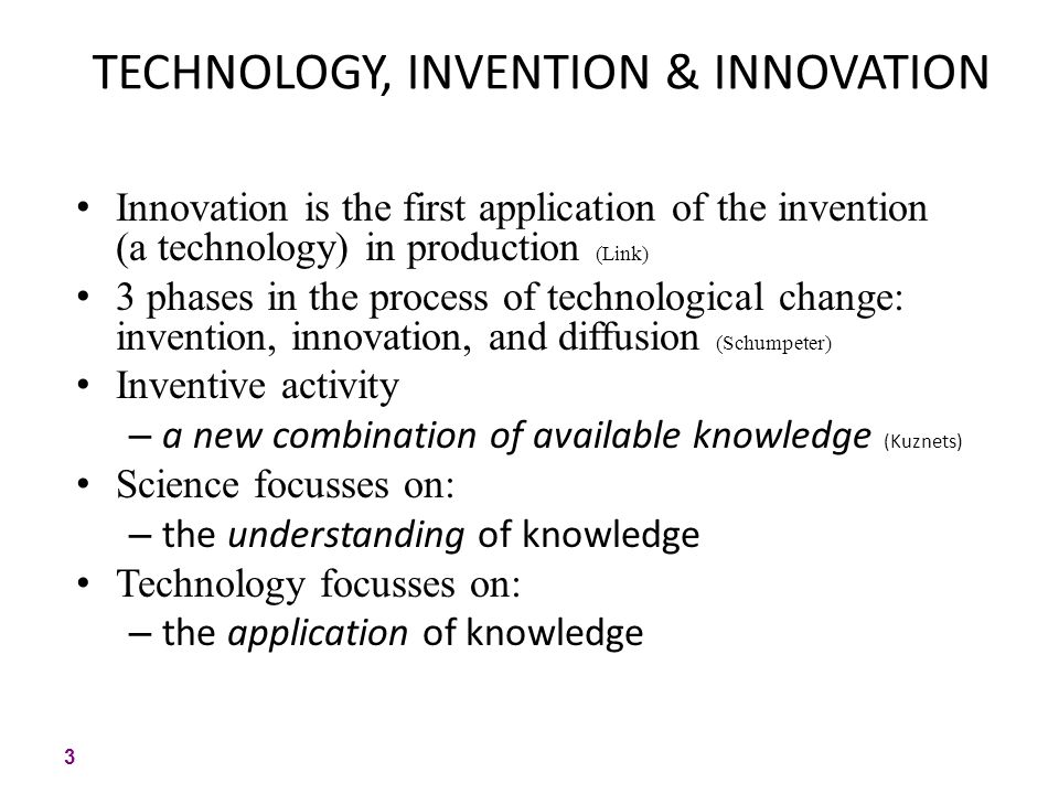 Understanding innovation and hange in an