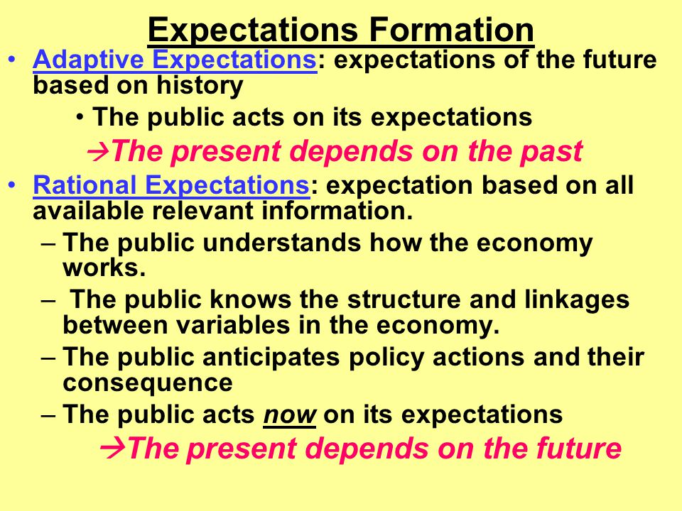Expectations Formation