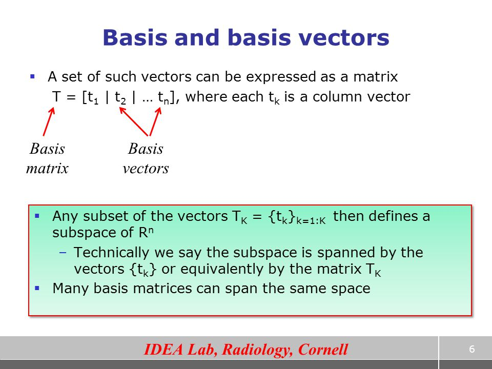 Basis and basis vectors