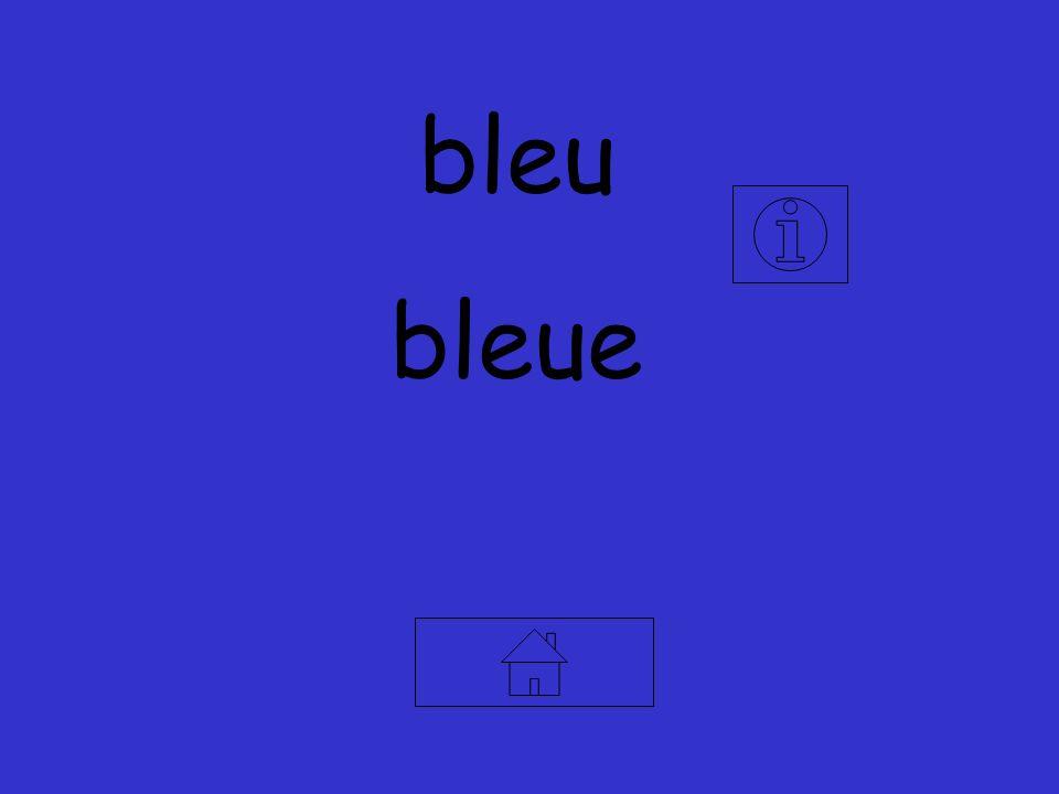 bleu bleue