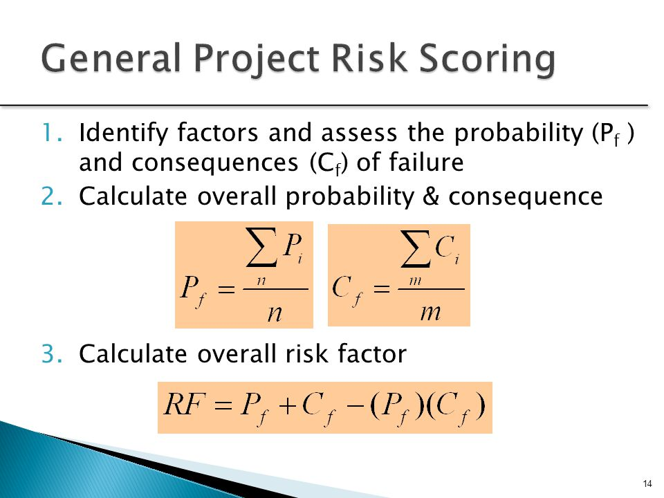 General Project Risk Scoring